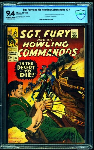 Sgt. Fury and His Howling Commandos #37 CBCS NM 9.4 Off White to White