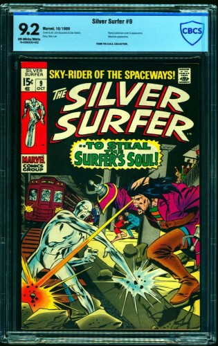 Silver Surfer #9 CBCS NM- 9.2 Off White to White Marvel Comics