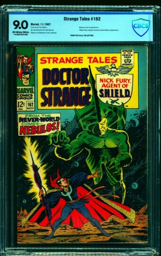 Strange Tales #162 CBCS VF/NM 9.0 Off White to White