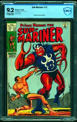 Sub-Mariner #12 CBCS NM- 9.2 Off White to White Marvel Comics