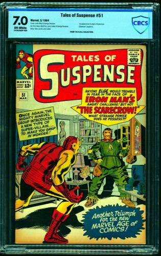 Tales Of Suspense #51 CBCS FN/VF 7.0 Off White Iron Man