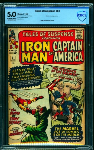 Tales Of Suspense #61 CBCS VG/FN 5.0 Off White to White Iron Man