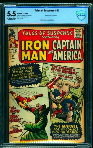 Tales Of Suspense #61 CBCS FN- 5.5 Off White to White