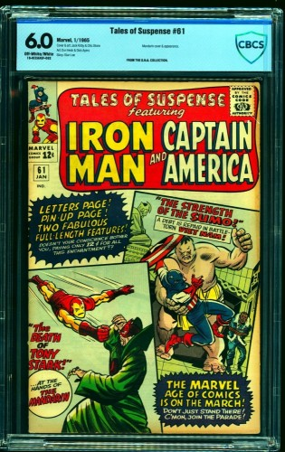 Tales Of Suspense #61 CBCS FN 6.0 Off White to White Iron Man