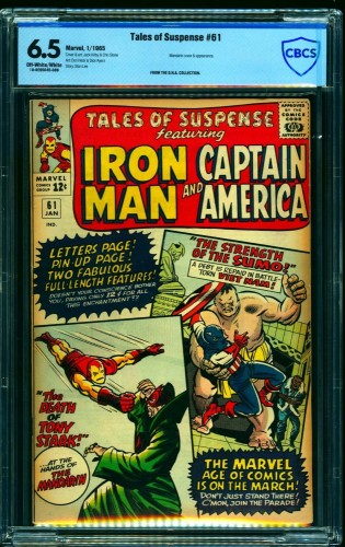 Tales Of Suspense #61 CBCS FN+ 6.5 Off White to White Iron Man