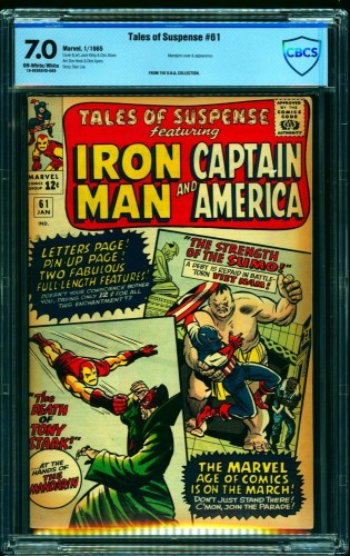 Tales Of Suspense #61 CBCS FN/VF 7.0 Off White to White Iron Man