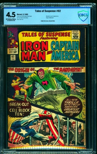 Tales Of Suspense #62 CBCS VG+ 4.5 Off White to White Iron Man