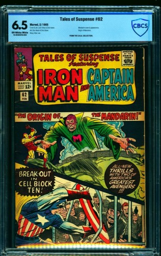 Tales Of Suspense #62 CBCS FN+ 6.5 Off White to White Iron Man
