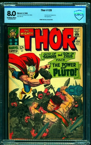 Thor #128 CBCS VF 8.0 Off White to White Marvel Comics
