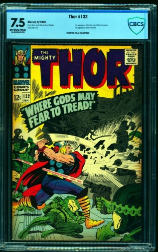 Thor #132 CBCS VF- 7.5 Off White to White Marvel Comics