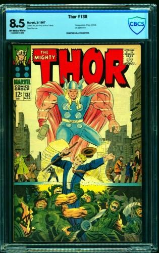 Thor #138 CBCS VF+ 8.5 Off White to White Marvel Comics