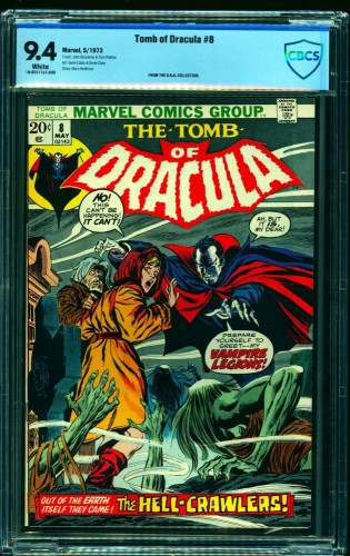 Tomb Of Dracula #8 CBCS NM 9.4 White Pages Marvel Comics