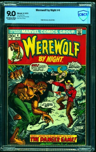 Werewolf By Night #4 CBCS VF/NM 9.0 Off White to White