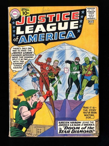 Justice League Of America #4 VG+ 4.5 DC Comics