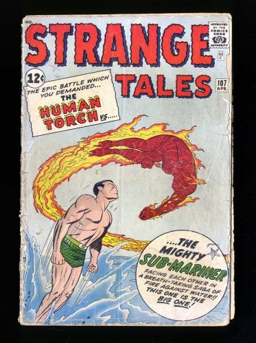 Strange Tales #107 FA/GD 1.5 Marvel Comics Nick Fury Doctor Strange Torch