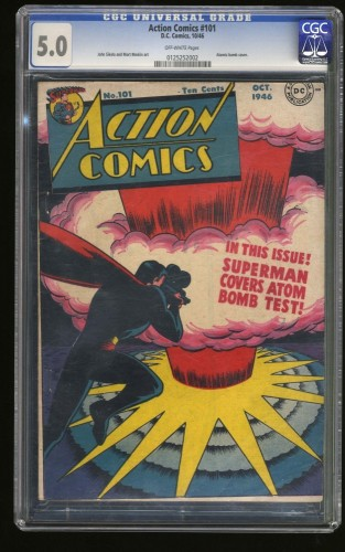 Cover Scan: Action Comics #101 CGC VG/FN 5.0 Off White DC Superman