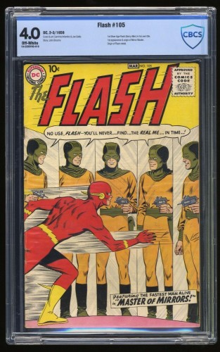 Flash #105 CBCS VG 4.0 Off White DC Comics