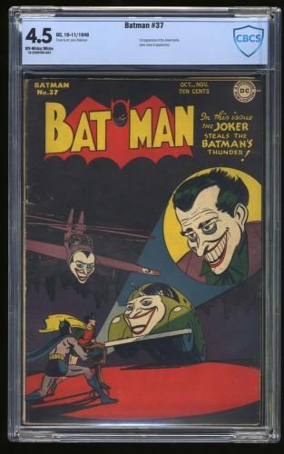 Batman #37 CBCS VG+ 4.5 Off White to White