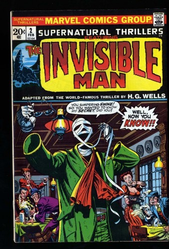 Supernatural Thrillers #2 VF 8.0