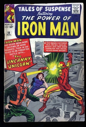 Tales Of Suspense #56 VG 4.0 1st Unicorn! Iron Man