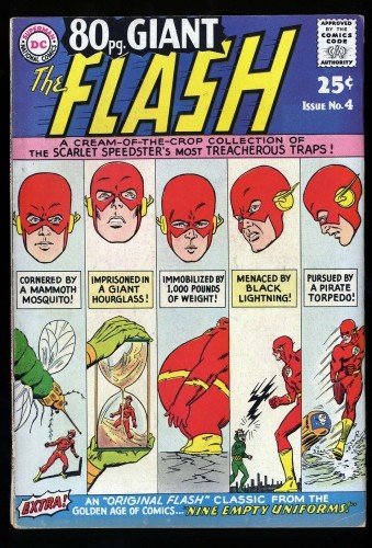 80 Page Giant #4 FN- 5.5 Flash!