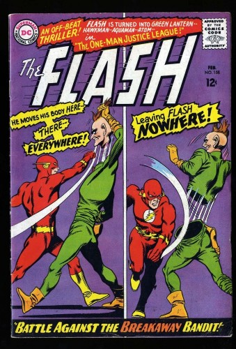 Flash #158 FN 6.0 1st Breakaway Bandit! DC Comics