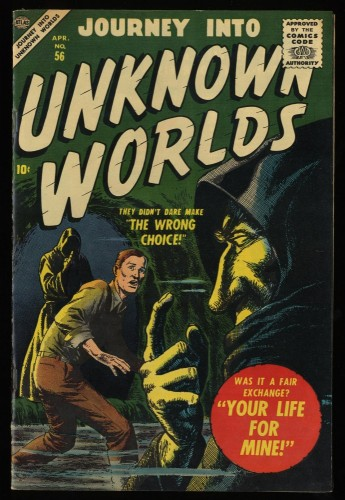 Journey Into Unknown Worlds #56 VF+ 8.5 Off White Circle 8