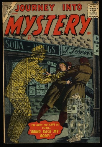 Journey Into Mystery #47 VF 8.0 Off White to White Circle 8 Marvel Comics