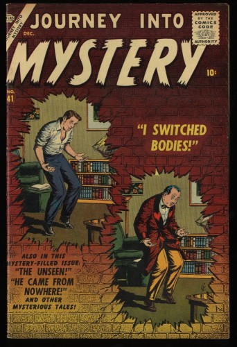 Journey Into Mystery #41 FN+ 6.5 Off White Circle 8 Marvel Comics