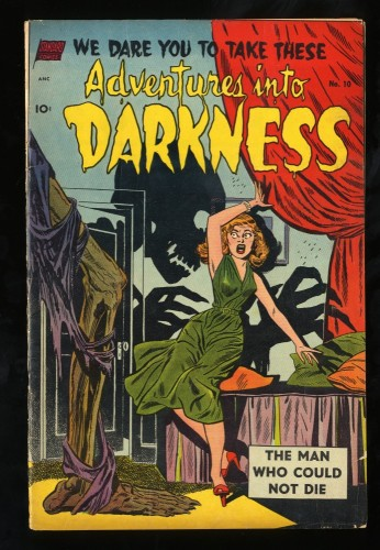 Adventures into Darkness #10 VG/FN 5.0