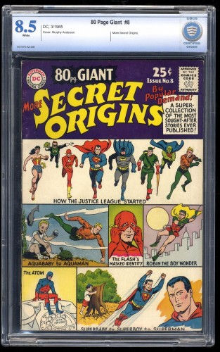 80 Page Giant #8 CBCS VF+ 8.5 White