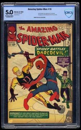 Amazing Spider-Man #16 CBCS VG/FN 5.0 Off-White/White