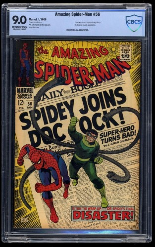Amazing Spider-Man #56 CBCS VF/NM 9.0 Off White to White