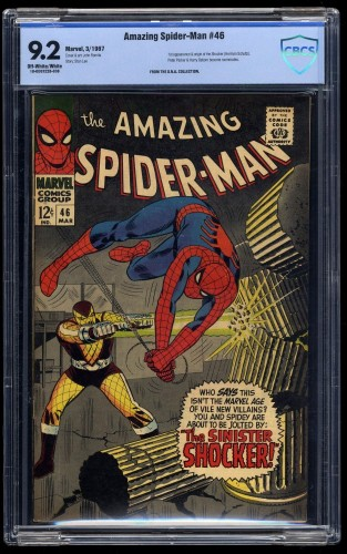 Amazing Spider-Man #46 CBCS NM- 9.2 Off White to White 1st Shocker!
