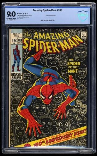 Amazing Spider-Man #100 CBCS VF/NM 9.0 Off White to White