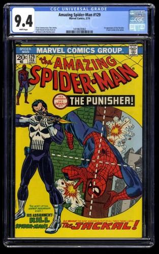 Amazing Spider-Man #129 CGC NM 9.4 White Perfect Centering!