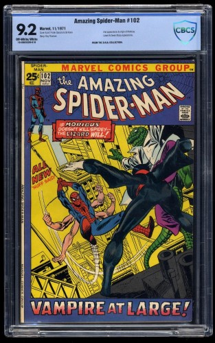 Amazing Spider-Man #102 CBCS NM- 9.2 Off-White/White