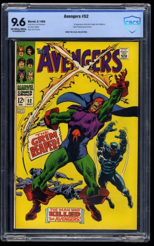 Avengers #52 CBCS NM+ 9.6 Off-White/White 1st Grim Reaper