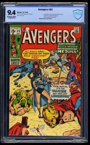 Avengers #83 CBCS NM 9.4 Off-White/White 1st Valkyrie