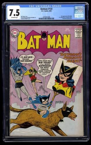 Batman #133 CGC VF- 7.5 Off White