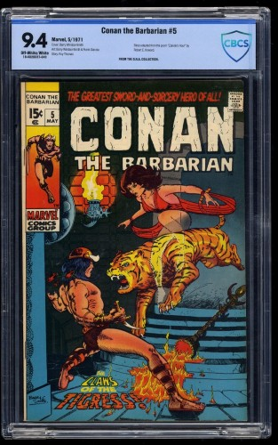 Conan The Barbarian #5 CBCS NM 9.4 Off White to White