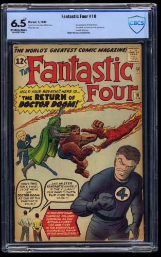 Fantastic Four #10 CBCS FN+ 6.5 Off White to White