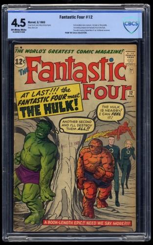 Fantastic Four #12 CBCS VG+ 4.5 Off-White/White