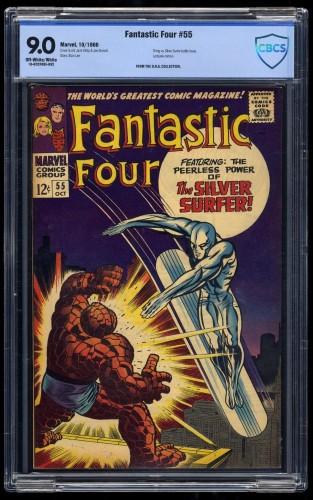Fantastic Four #55 CBCS VF/NM 9.0 Off-White/White