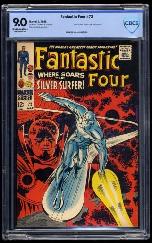 Fantastic Four #72 CBCS VF/NM 9.0 Off-White/White