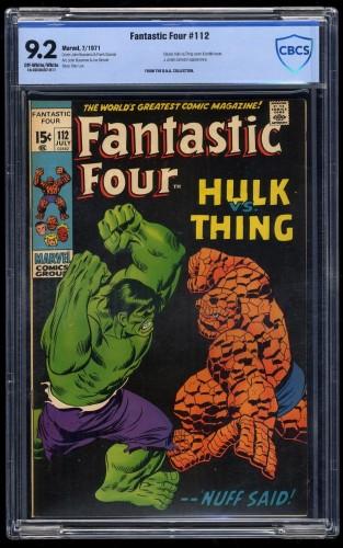 Fantastic Four #112 CBCS NM- 9.2 Off White to White