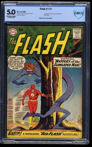 Flash #112 CBCS VG/FN 5.0 Off-White/White 1st Elongated Man!