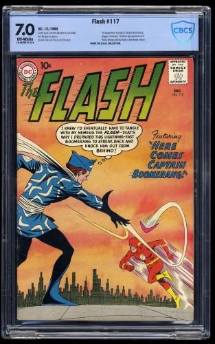 Flash #117 CBCS FN/VF 7.0 Off-White 1st Captain Boomerang!