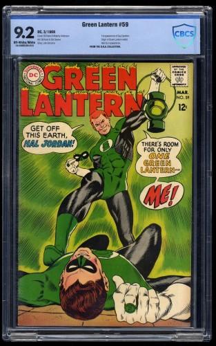 Green Lantern #59 CBCS NM- 9.2 Off-White/White 1st Guy Gardner!