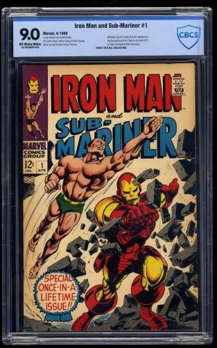 Iron Man and Sub-Mariner #1 CBCS VF/NM 9.0 Off-White/White